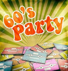 60 S Design 60s Music Party Vintage Poster Design Retro Concept U2014 Stock Photo