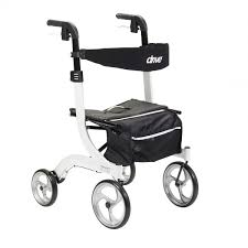 senior walkers with seat drive nitro 4 wheel rollator