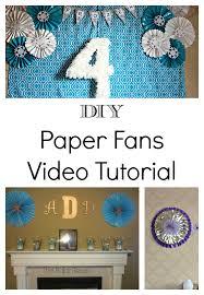 paper fans diy diy paper fan tutorial frozen party backdrop the bajan texan
