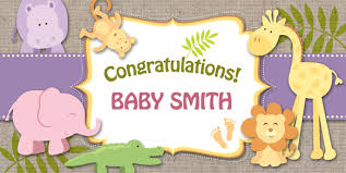 welcome home baby shower baby showers banner envy