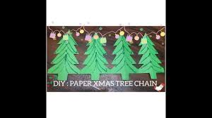 diy how to make xmas tree chain with paper christmas craft