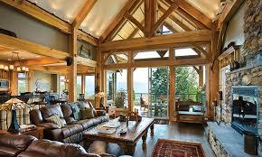 timber frame home interiors compact hybrid timber frame home design photos