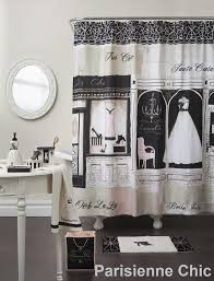 parisienne chic fabric shower curtain u2013 bath and window direct