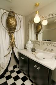 eclectic bathroom ideas black and white checkered bathroom floor eclectic bathroom decor
