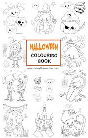 halloween colouring pages messy monster