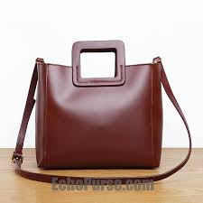 Handmade Leather Tote Bag - handmade leather tote bag vintage burgundy satchel bag bg040
