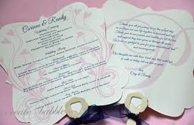 fan programs for weddings diy wedding programs create and babble