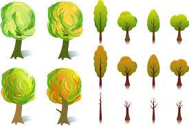 cartoon fall trees vector set 2 vector graphics blog