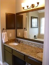 bathroom modern porcelain sink wooden bathroom mirror ideas