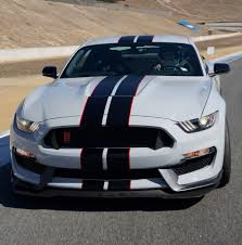 Black Mustang Red Stripes Oxford White 2016 Ford Mustang Shelby Gt350r Coupe