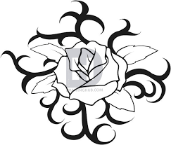 design flower rose drawing how to draw a rose tattoo step by step drawing guide by