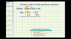 ex 1 solve an equation with paheses