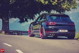 stanced porsche 911 porsche macan stanced on custom vossen wheels photo gallery