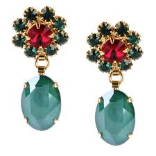 green earrings royal green earrings otazu