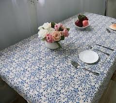 elegant table linens wholesale blue and white porcelain wedding party table cloth lace tablecloth
