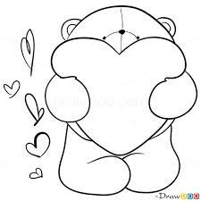 coloring teddy bears drawing stock vector bear 490808788