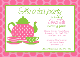 tea party birthday invitation wording cimvitation