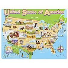 us map puzzle wood doug usa map wooden puzzle 45 pcs