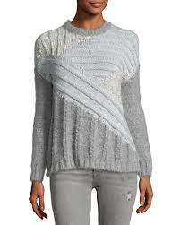 cable sweater current elliott the mixed cable sweater gray neiman