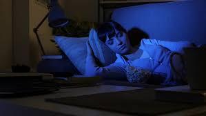 Sleeping On The Sofa Young Woman Sleeping On The Sofa Late At Night She Fell Asleep