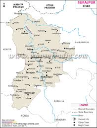 India River Map by Surajpur River Map