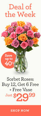 flower deals flower deals of the week flower specials deals 1800flowers