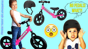 motocross balance bike best bicycle for kids unboxing how to assemble use strider