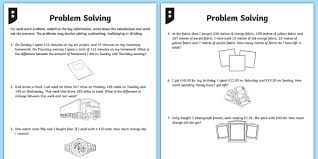 differentiated addition and subtraction word problem activity