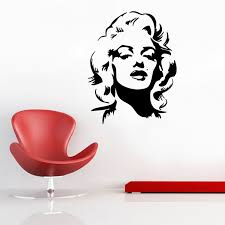 Marilyn Monroe Wall Sticker Ambiance Sticker Celebrity Wall Decals Touch Of Modern
