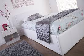 arizona white leather ottoman bed frame u2013 dublin beds