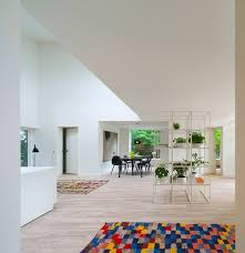 a modern and minimalistic house made with transportation