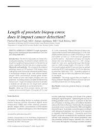 autopsy report template length of prostate biopsy cores does it impact cancer detection length of prostate biopsy cores does it impact cancer detection pdf download available