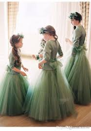 2017 luxury flower girls dresses pageant party birthday