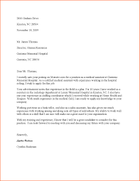 Cover Letter for Medical assistant Job Writing A General Cover