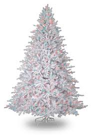 white christmas tree with multicolor lights white tree with multi colored lights event design breakfast