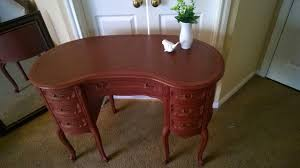 Kidney Shaped Writing Desk by For Love Of The Paint Before And After Antique Kidney Shaped Desk