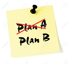 crossing out plan a writing plan b stock photo picture and