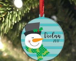 personalized christmas ornaments for kids etsy