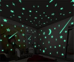 glow in the ceiling honana 100pcs 3cm fluorescent glow wall sticker us 3 33