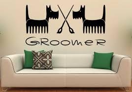 pet grooming wall decal vinyl stickers pet shop interior pet zoom