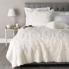 Fur Bed Set Fresh White Faux Fur Comforter 17 With Additional Vintage Duvet