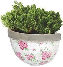amazon com esschert design usa ceramic wall planter blue white