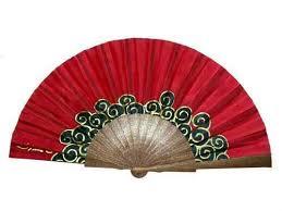 silk fan painted silk fan b14