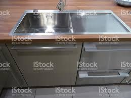 modern stainless steel kitchen sinks stainlesssteel kitchen sink single basin realwalnut darkwood