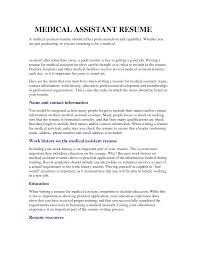 Medical Assistant Resume Samples No Experience by Good Objective For A Medical Assistant With Medical Assistant