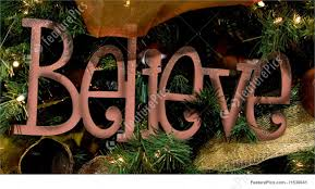 holidays believe sign ornament stock photo i1538041