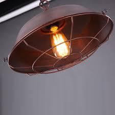 Schrank F Esszimmer Vintage Pendelleuchte Einfache Vintage Braun Eisen Abdeckung Lampe