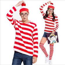 Wheres Waldo Halloween Costume Shop Wheres Waldo Wally Costume Cosplay Fancy Dress