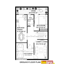 house plan for feet by plot size square yards including