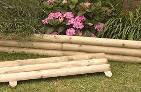 Timber Garden Edging Ideas Wood Garden Edging Ideas